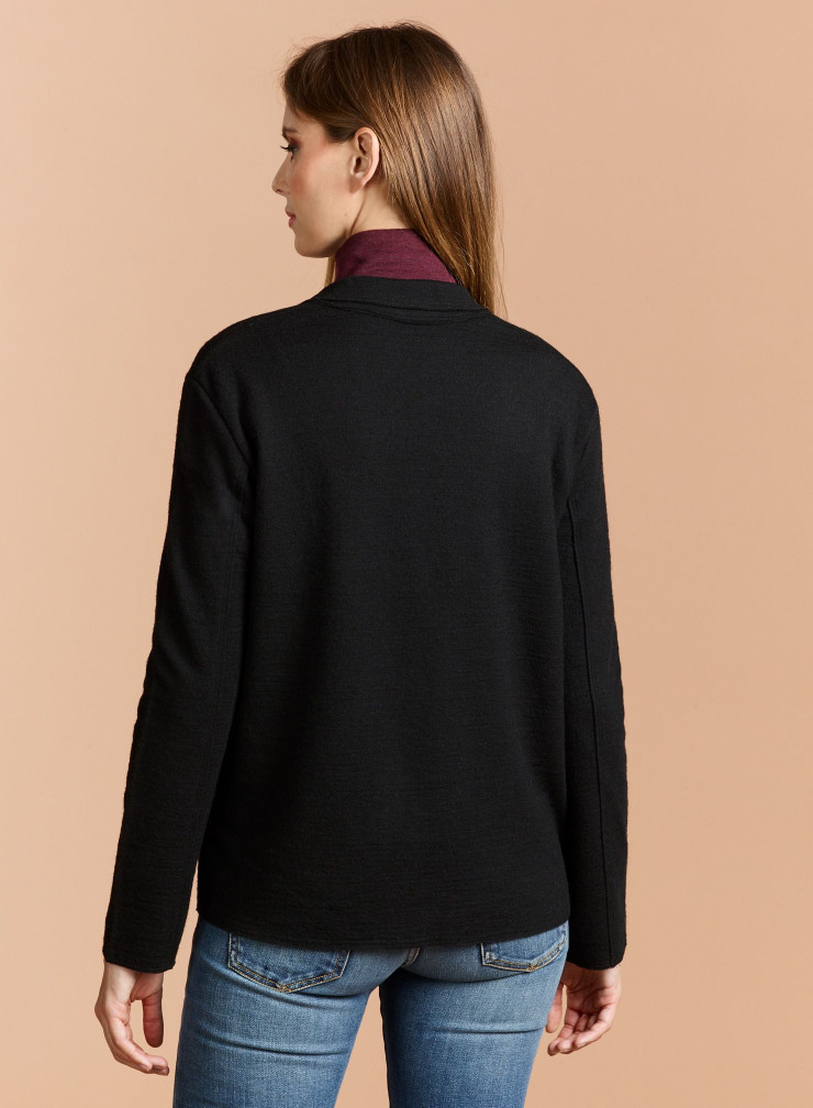 Veste sans bouton en laine mélangée