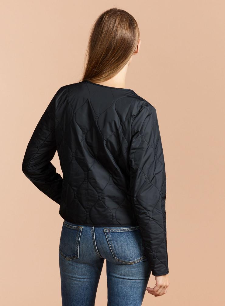 Quilted round neck zip Jacket