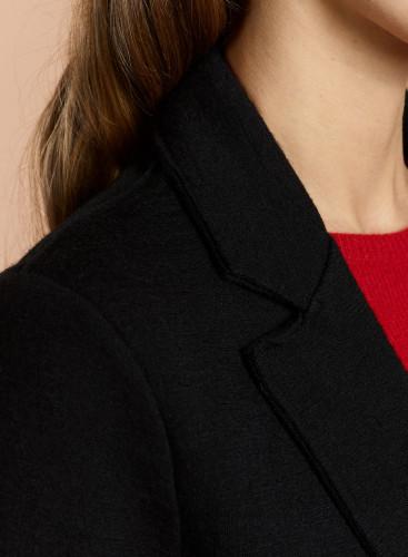 Woolen mix mid-season Coat