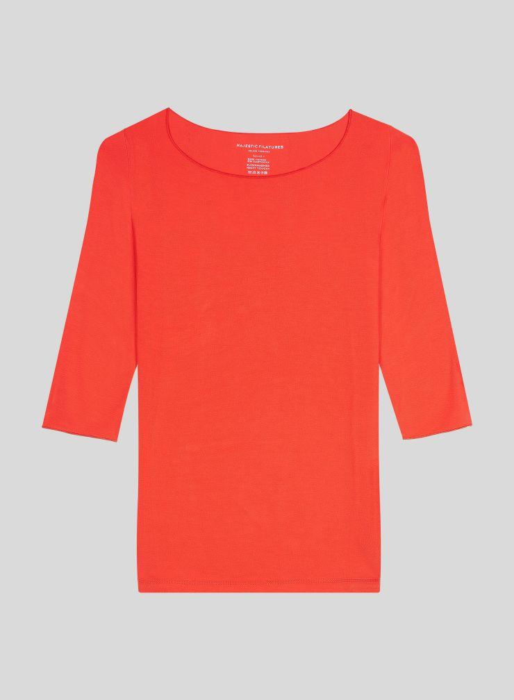 Adele boat neck T-shirt