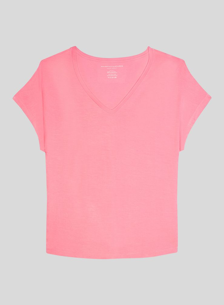 T-shirt col V boxy