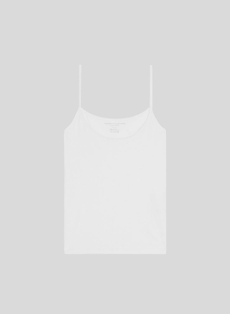 Tank top with thin straps