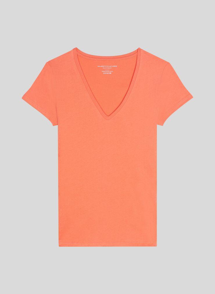 T-shirt Julia col V