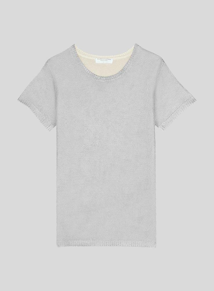 Round neck short sleeve Sweater