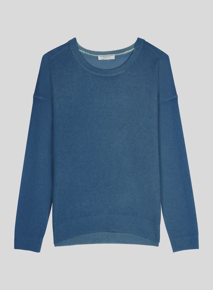 Pull col rond forme boxy