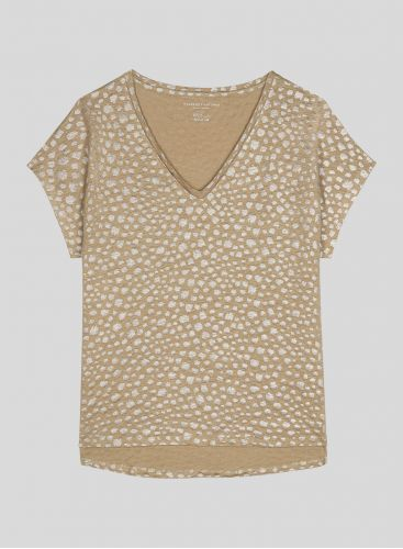 Leopard printed boxy T-shirt