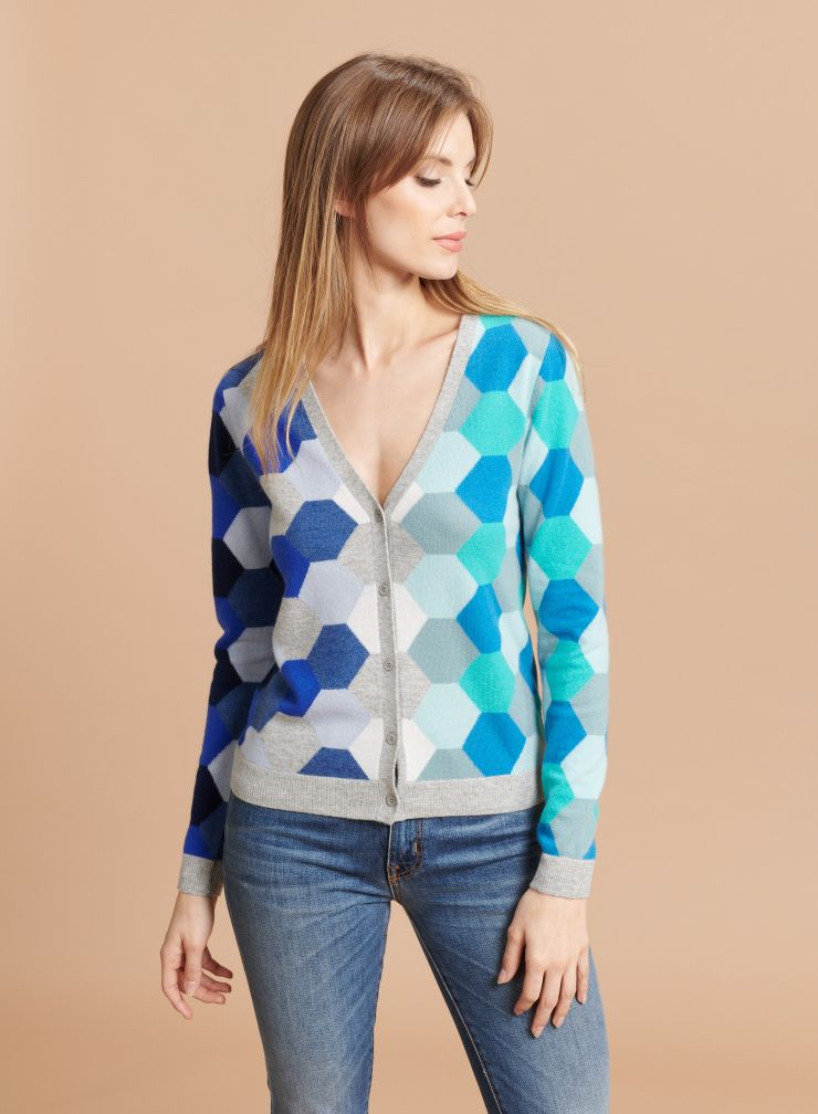 Graphic pattern Cardigan