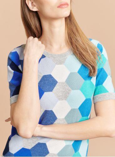Round neck graphic pattern Sweater