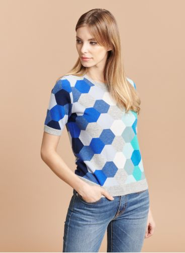 Round neck graphic pattern Sweater