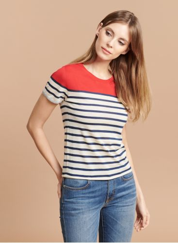 Round neck Striped