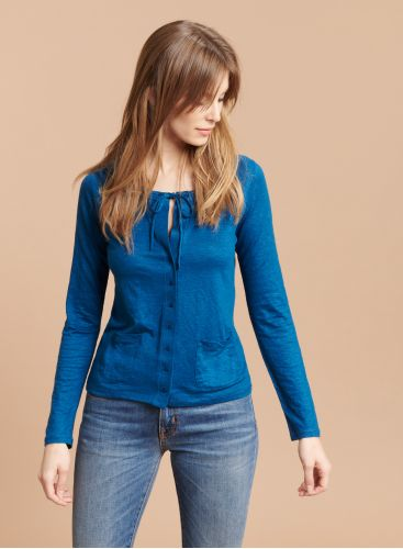 Tie neck 2 pocket Cardigan