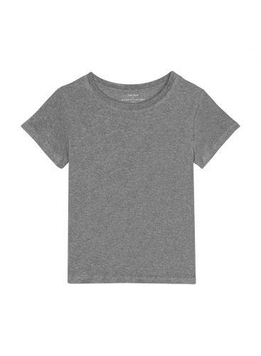 Round neck sponge T-shirt