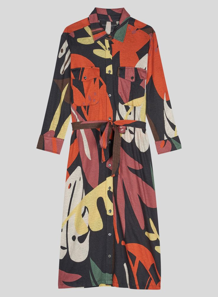 Printed pocket Dress