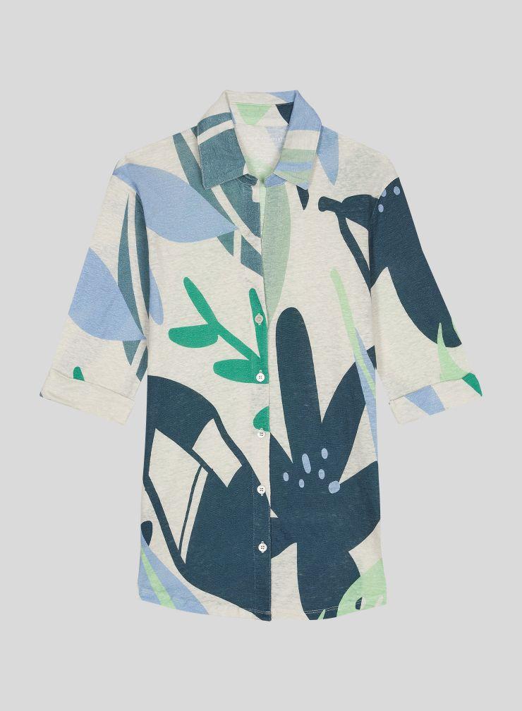 Printed 3/4 sleeve Shirt