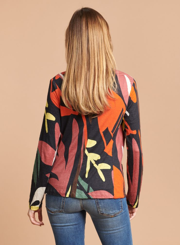 Printed patch pocket Jacket