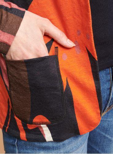 Printed patch pocket Jacket