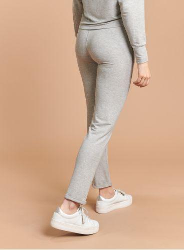 Pantalon droit à revers métallisé