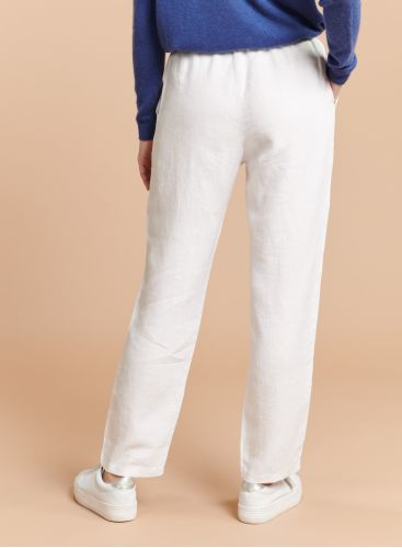 Elasticated waisted straight Pants