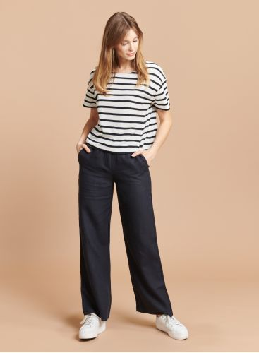 Pantalon droit taille élastiquée