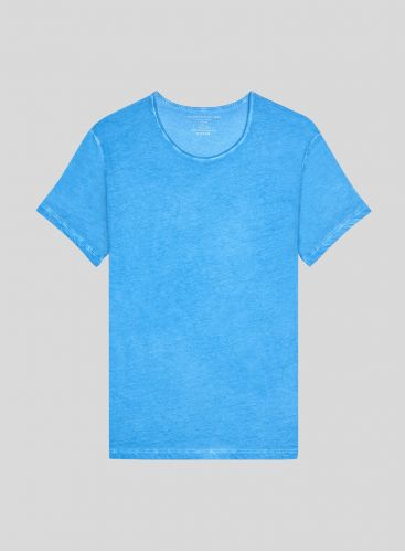 Men's hand dyed round neck T-shirt