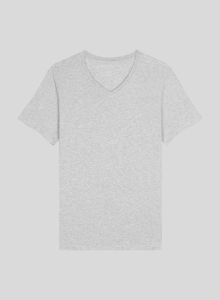 Men's V neck Silk Touch Cotton T-shirt