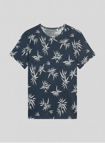 Men's round neck printed T-shirt