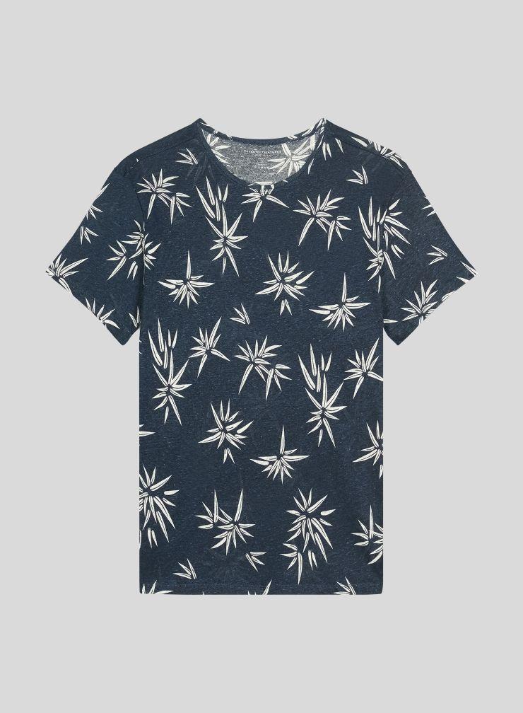 T-shirt col rond Homme imprimé bambou