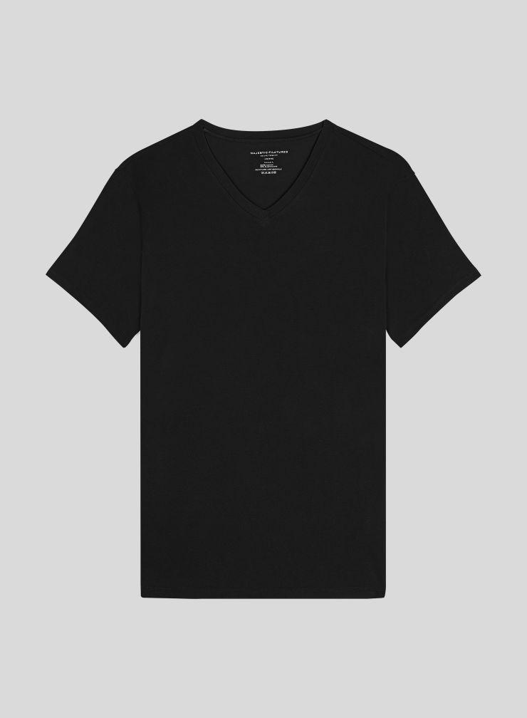 Men's hand dyed V neck T-shirt