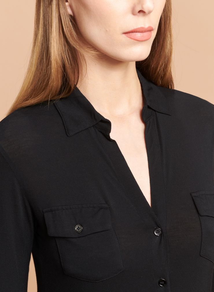 Anya Button-V Blouse