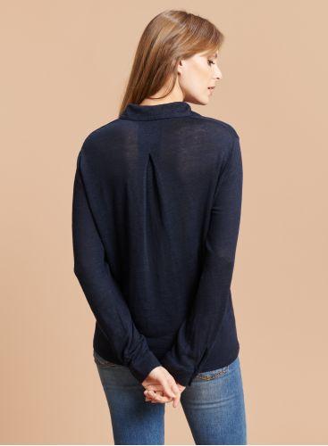 Chemise pli au dos