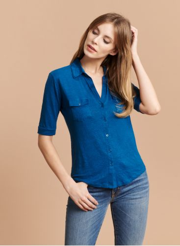 Lydia V-neck 2 pocket Shirt