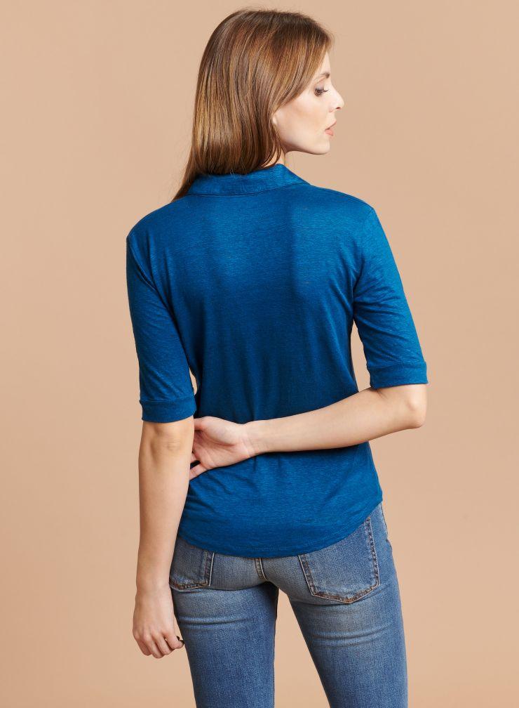 Chemise Lydia col V 2 poches