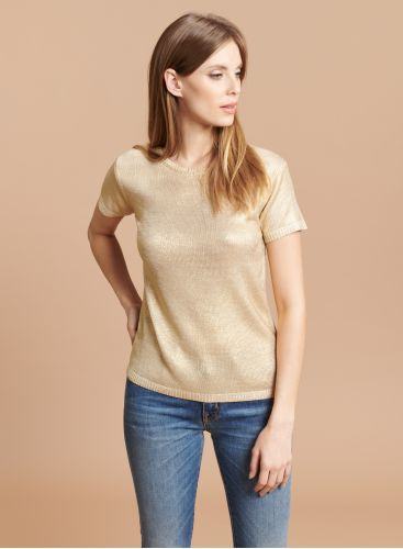 Round neck short sleeve Sweater