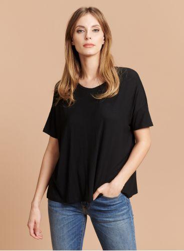 Round neck boxy T-shirt