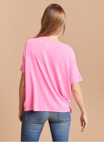 T-shirt col rond boxy