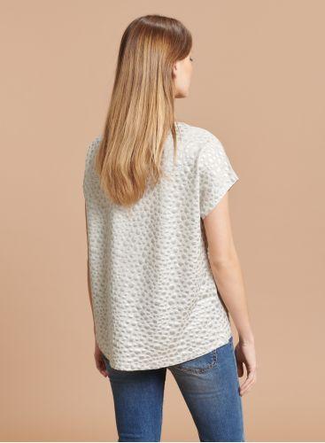 Shimmering printed boxy T-shirt