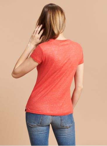 V-neck double T-shirt