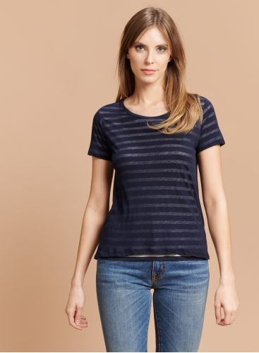 T-shirt col rond marinière
