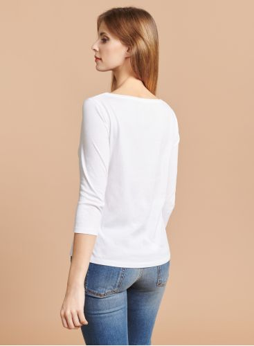 Boat neck Silk Touch T-shirt