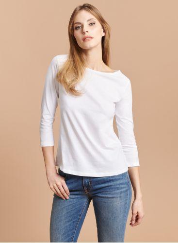 T-shirt col bateau manches 3/4 Silk Touch
