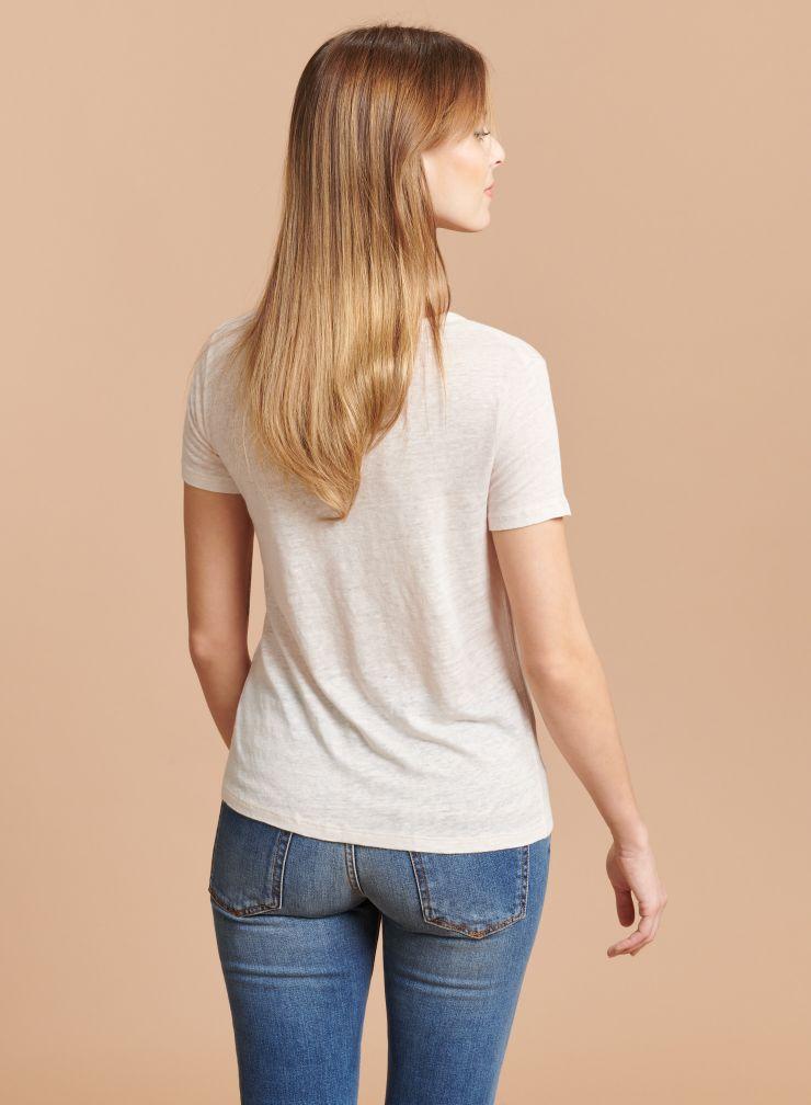 T-shirt évasé col rond