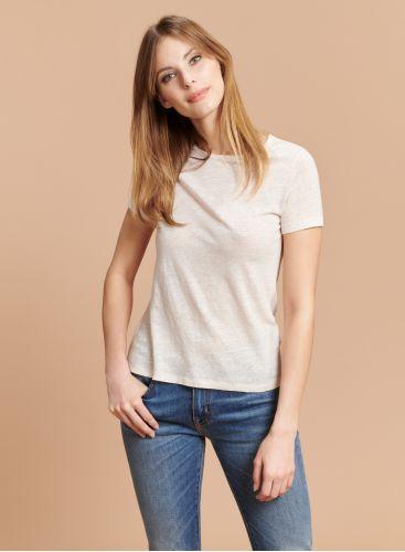 Round neck flared T-shirt