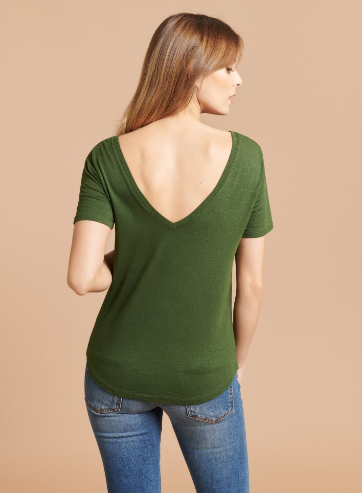V-neck & back Dress