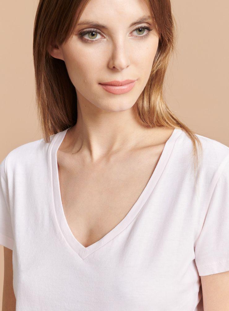 V-neck Silk Touch T-shirt