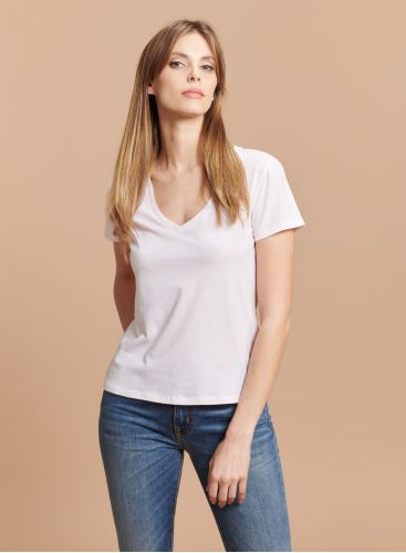 V-neck Silk Touch T-shirt