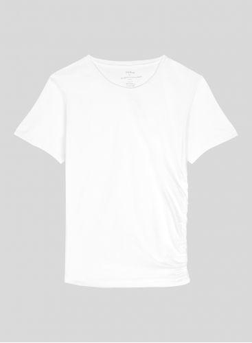 T-shirt asymétrique col rond