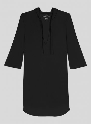 3/4 sleeved hooded Dress