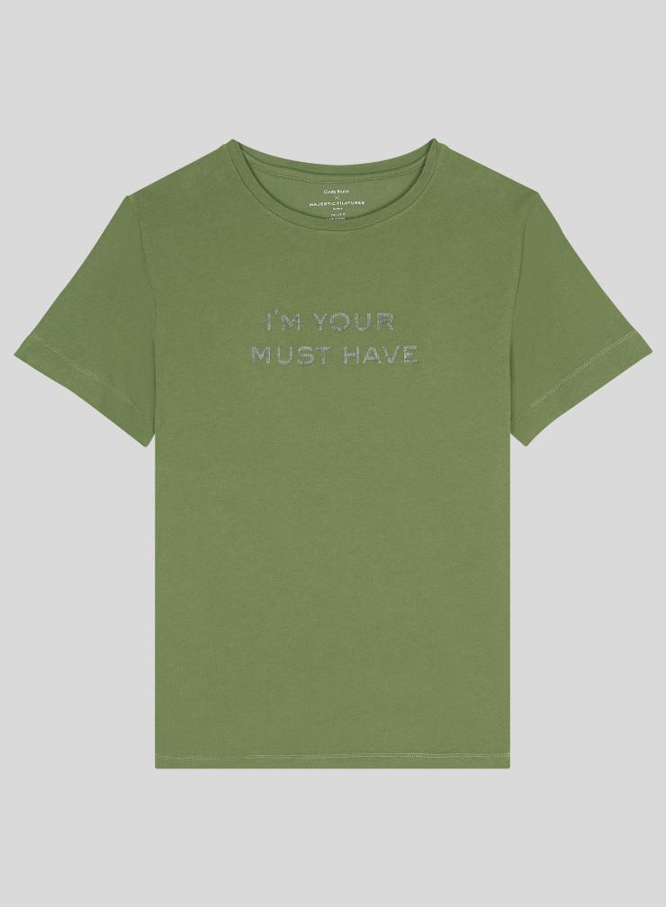 T-shirt boyfriend col rond