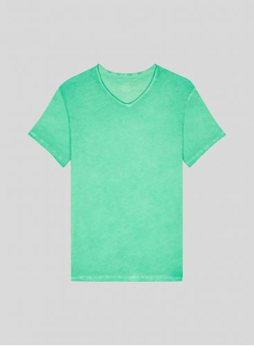 Men's hand dyed V neck T-shirt