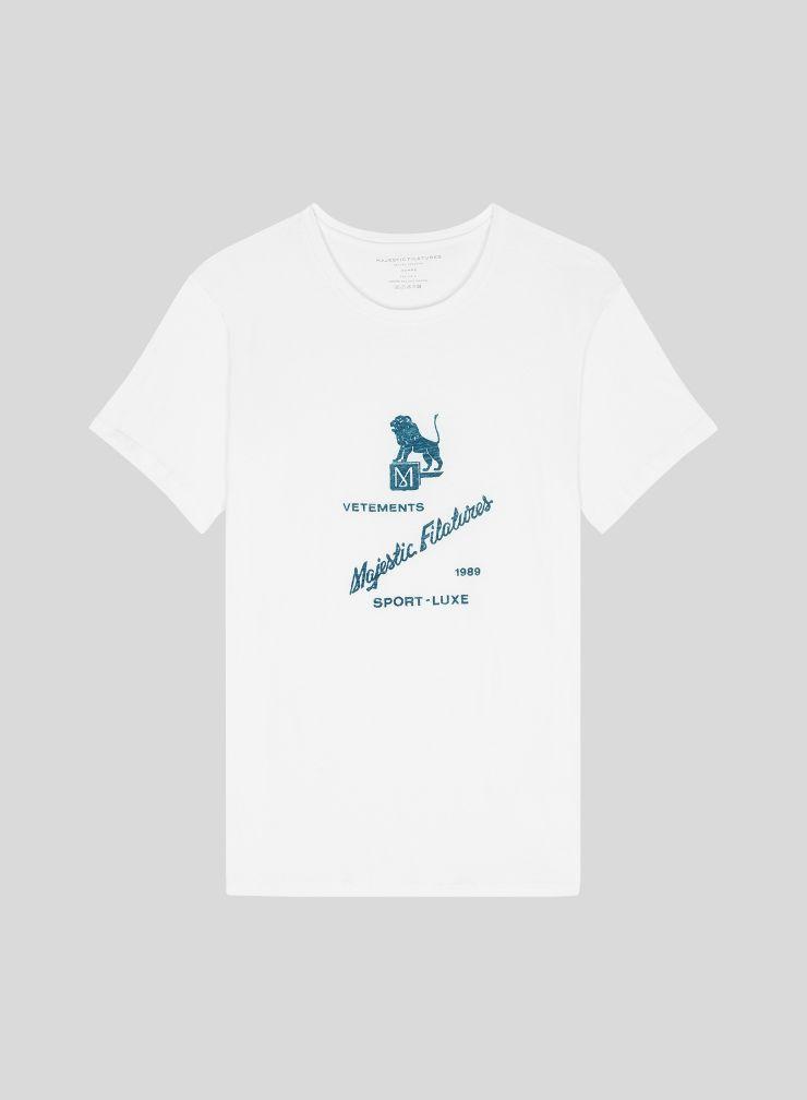 Men's round neck T-shirt with Majestic Filatures print